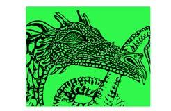Эскиз дракона Стоковые Фотографии RF