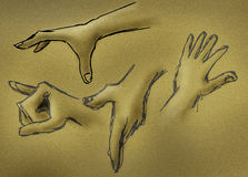 эскиз руки Стоковое Фото