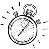 Эскиз секундомера Стоковая Фотография RF