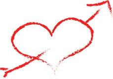Эскиз сердца Стоковые Фото