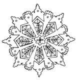 Эскиз снежинки иллюстрация штока
