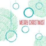 Эскиз стиля шариков рождества нарисованный вручную Стоковые Фотографии RF
