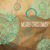 Эскиз стиля шариков рождества нарисованный вручную Стоковая Фотография RF