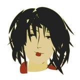 Эскиз стороны девушки Бесплатная Иллюстрация