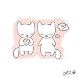 Эскиз с котами Стоковое фото RF