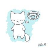 Эскиз с котенком Стоковые Фото