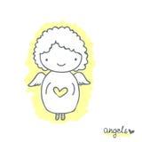 Эскиз с милым ангелом Стоковое Изображение RF