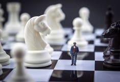 Эскиз человека внутри игра в шахматы Стоковое Фото