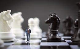 Эскиз человека внутри игра в шахматы Стоковые Фотографии RF