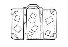 Эскиз чемодана бесплатная иллюстрация