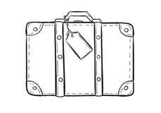 Эскиз чемодана Стоковые Изображения RF