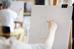 Эскиз человека Стоковое Фото