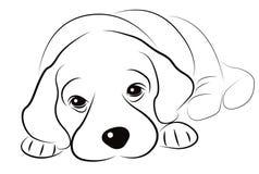 Эскиз щенка Стоковое Изображение