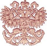 Эскиз heraldic двуглавого орла иллюстрация штока