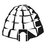 Эскимосский значок иглу, простой стиль иллюстрация вектора