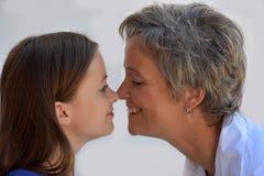 Эскимосский поцелуй Стоковые Фото