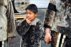 Эскимосский ребенок Стоковое Изображение