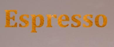 Эспрессо письменного слова стоковое изображение rf