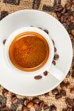 Эспрессо, чашка кофе, взгляд сверху Стоковое Фото