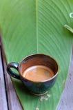 Эспрессо чашки горячее Стоковое фото RF