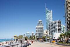 Эспланада рая серферов, Gold Coast Стоковые Изображения RF