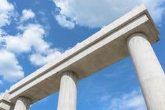 Эстакада соединения шоссе конструкции соединения шоссе конструкции промышленная новая поднимать в прогрессе для colu транспортног Стоковое фото RF