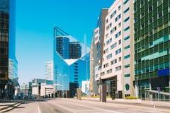 эстония tallinn Современная архитектура в эстонской столице Небоскреб делового центра Стоковые Изображения RF