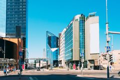 эстония tallinn Современная архитектура в эстонской столице тема иллюстрации делового центра зодчества Стоковые Изображения RF