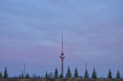 Эстонская башня ТВ Стоковые Фотографии RF