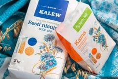 Эстонские продукты с дизайном для торжества годовщины республики Эстонии Стоковое Фото