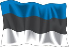 эстонский флаг Стоковое Изображение
