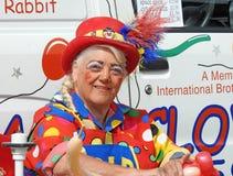 Эстрадный артист воздушного шара клоуна Стоковые Изображения RF
