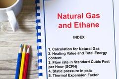 Этан и вычисление и лекция по природного газа концепция Стоковые Фотографии RF