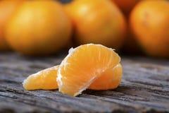 Этапы апельсина мандарина Стоковые Изображения