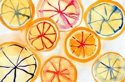 Этапы апельсина Стоковая Фотография RF