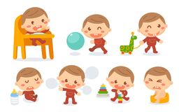 Этапы обработки младенца Стоковые Фотографии RF