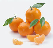 этапы clementines Стоковое Фото