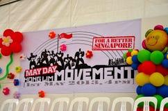 Этап движения ралли праздника Первого Мая Сингапура стоковая фотография