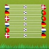 этап группы футбола Стоковые Фотографии RF