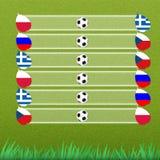 этап группы футбола Стоковое Изображение RF