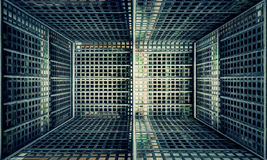 Этап загородки металла городской внутренний Стоковое Изображение