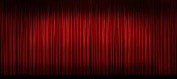 этап занавеса большой красный Стоковое Фото