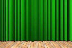 этап занавеса зеленый Стоковые Изображения