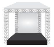 Этап концерта подиума Развлечения выставки представления Стоковая Фотография RF