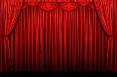 этап красного цвета занавеса Стоковые Фото