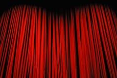 этап красного цвета занавеса Стоковое Изображение