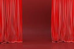 Этап, красные тени стоковое изображение