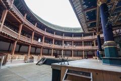 Этап Лондона Англии театра глобуса Шекспир Стоковое фото RF