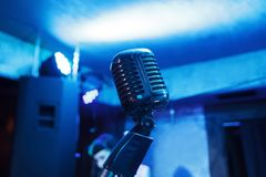 этап микрофона ретро Стоковое Фото
