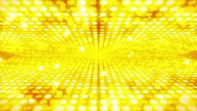 Этап освещая предпосылку со световым эффектом много Абстрактная анимация петли диско Накаляя неоновое освещение и пустое размещен иллюстрация штока